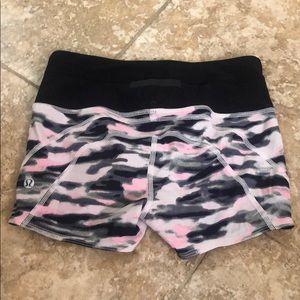 Lululemon pink camo shorts